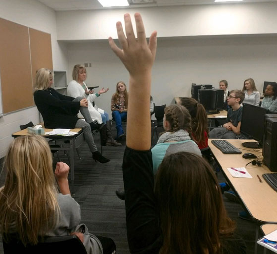 college and career readiness hand raise
